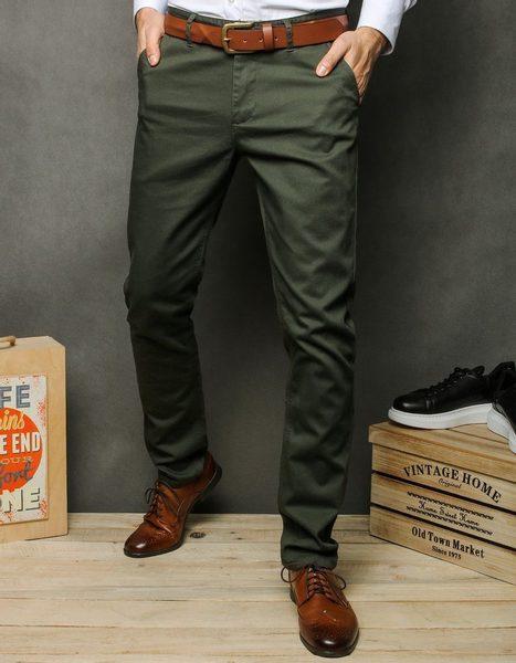 Klasické khaki chinos nohavice