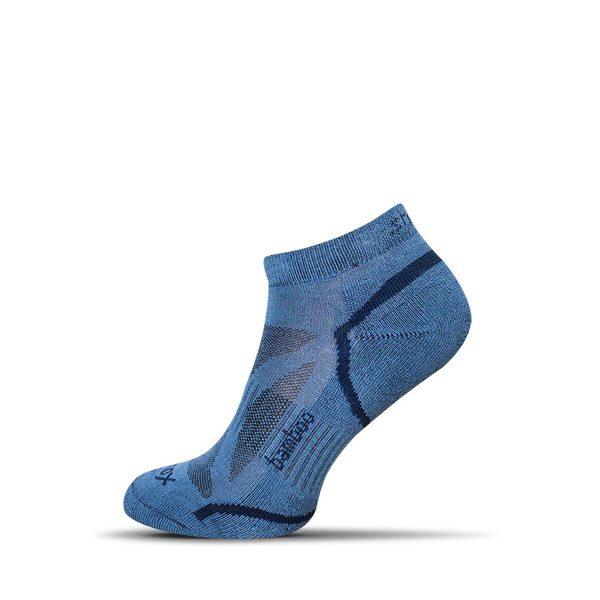 Členkové bambusové pánske ponožky v modrej farbe
