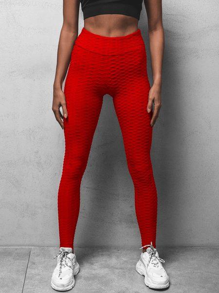 Módne dámske legíny v červenej farbe O/20475Z