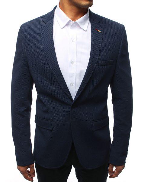 Jednoradové granátové pánske sako