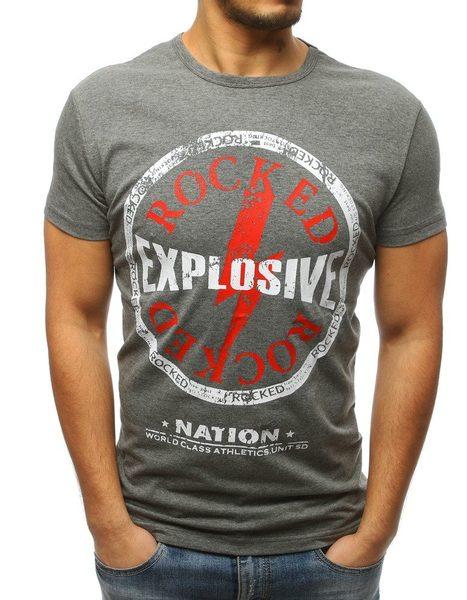 Šedé zaujímavé pánske tričko