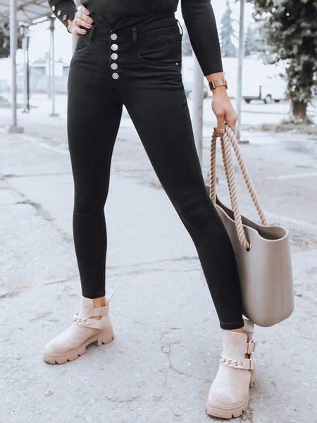 Jedinečné čierne dámske nohavice Lucas