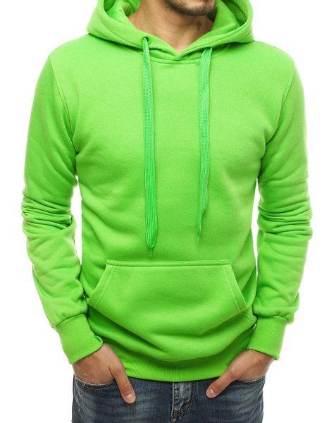 Jednoduchá zelená pohodlná mikina