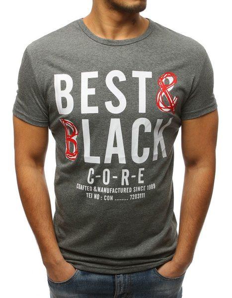 Klasické pánske tričko šedé