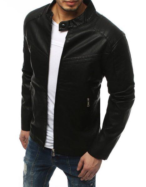 Senzačná koženková bunda čierna