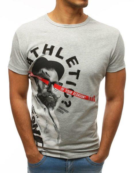 Moderné svetlo šedé pánske tričko