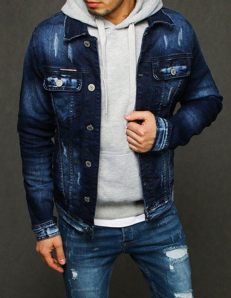 Štýlová pánska riflová bunda modrá