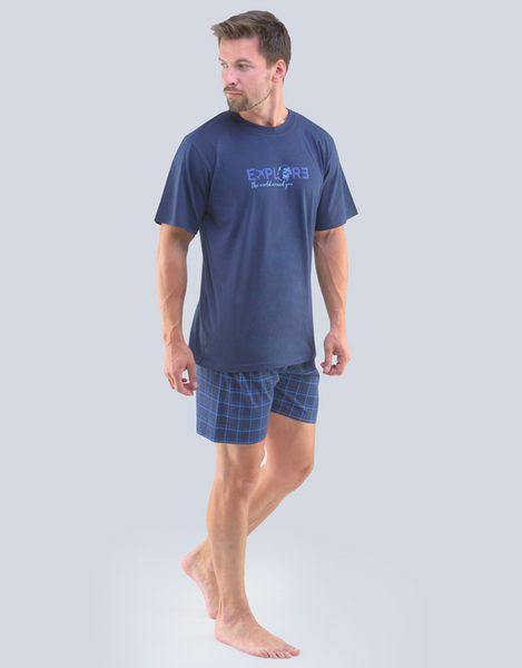 Tmavo modré letné pyžamo Oskar