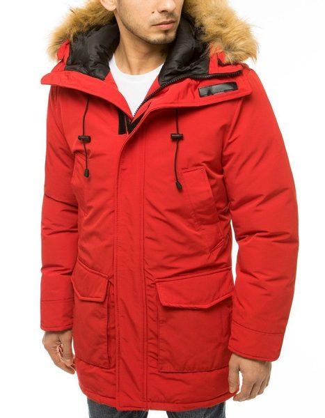 Módna červená zimná bunda