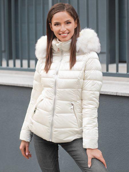 Ecru trendy dámska zimná bunda O/DK030/10Z