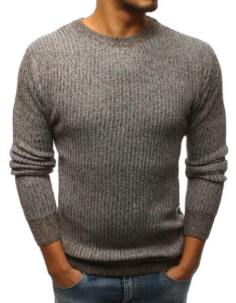 Hnedý pohodlný pánsky sveter