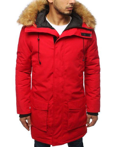 Fantastická červená zimná bunda
