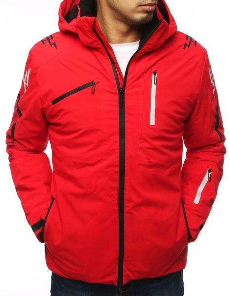 Červená zimná lyžiarska bunda