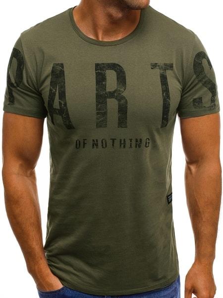 Zelené módne tričko OZONEE O/1180