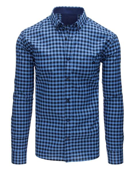 Štýlová modrá košeľa s vreckom