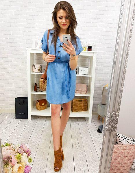 Džínsové modré dámske šaty