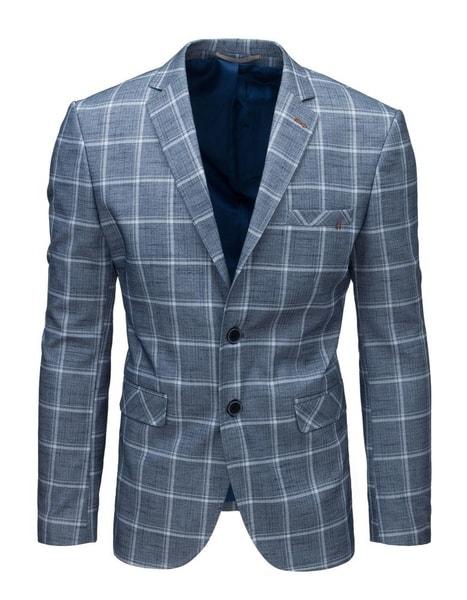 Fantastické modré vzorované sako