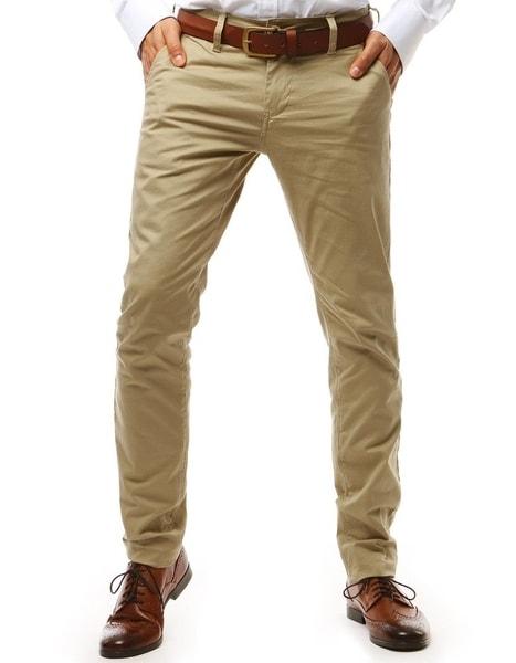 Klasické béžové chinos nohavice
