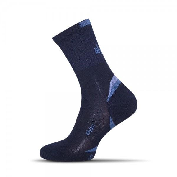 Modré pánske bambusové Clima ponožky