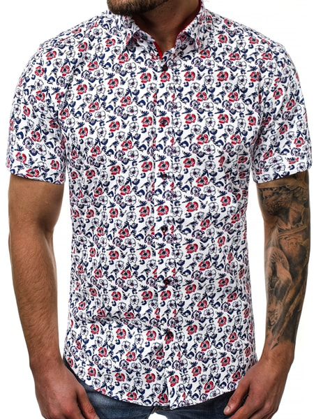 Pánska košeľa v kvetinovom vzore V/K108