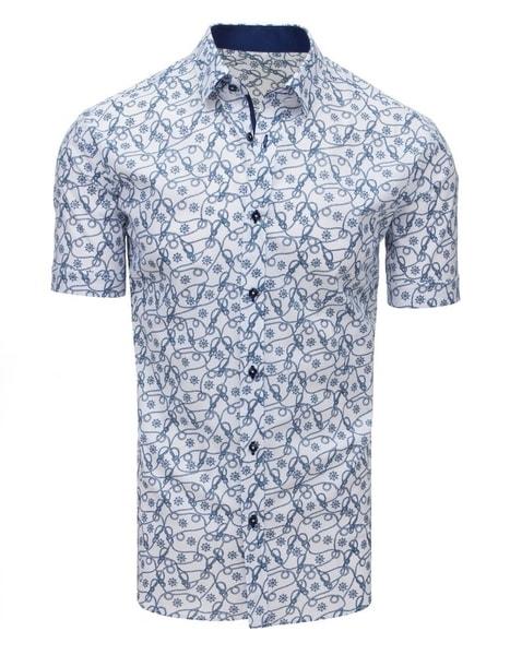 Originálna biela košeľa s krátkym rukávom