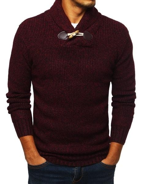 Bordový pohodlný sveter