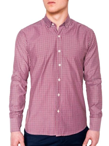 Červená kockovaná košeľa k437