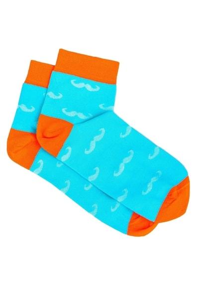 Nebesky modré botaskové ponožky s fúzmi U15