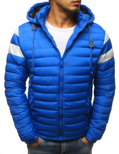 Fantastická modrá bunda s kapucňou