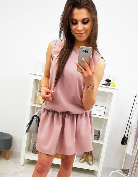 Ružové dámske šaty bez rukávov PREMIUM