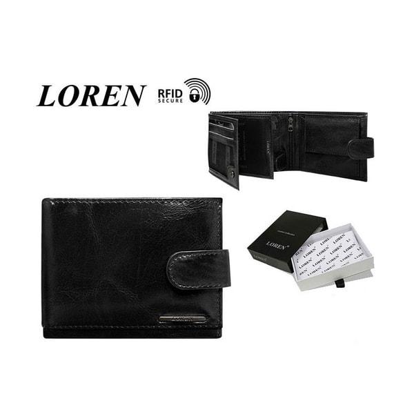 Exkluzívna pánska čierna peňaženka