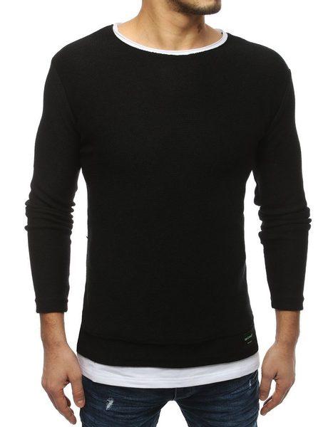 Štýlový čierny sveter
