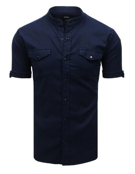 Atraktívna granátová košeľa s krátkym rukávom