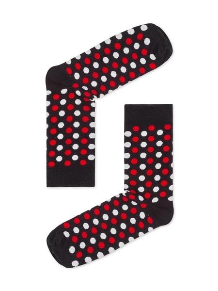 Čierne bodkované pánske ponožky U21