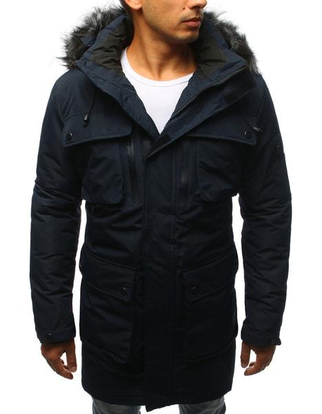 Pánska zimná bunda granátová