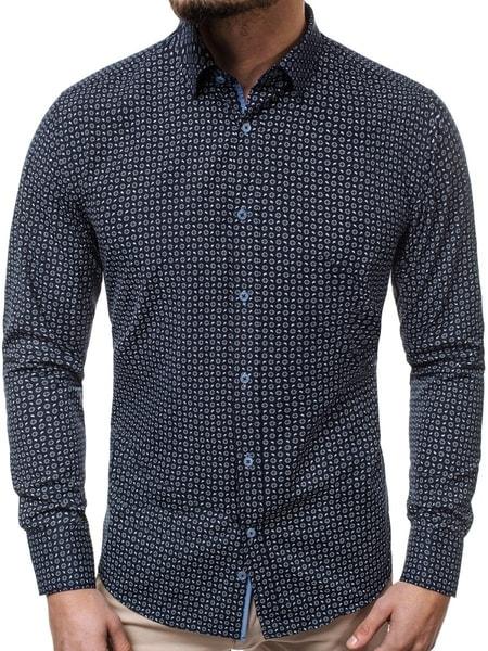 Bavlnená pánska košeľa granátová V/K72
