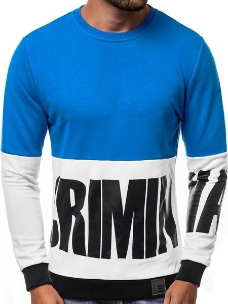 Trendy pánska mikina modrá B/8187