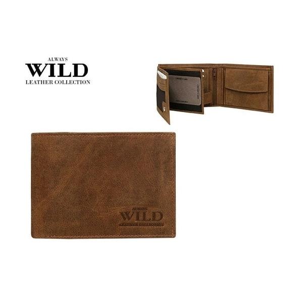 Hnedá moderná WILD peňaženka