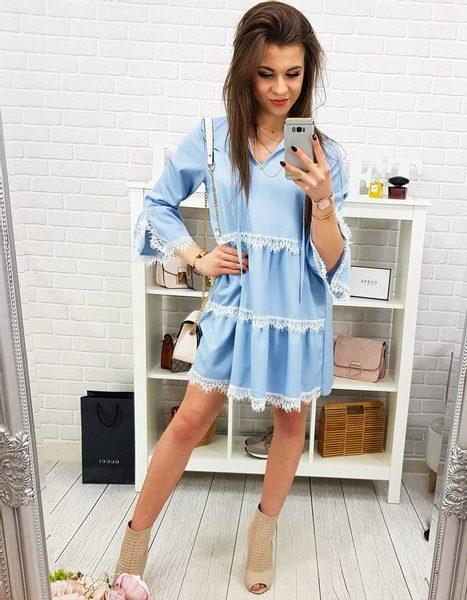 Modré dámske šaty REGGIO