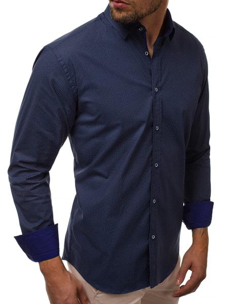 Štýlová granátová pánska košeľa V/K156