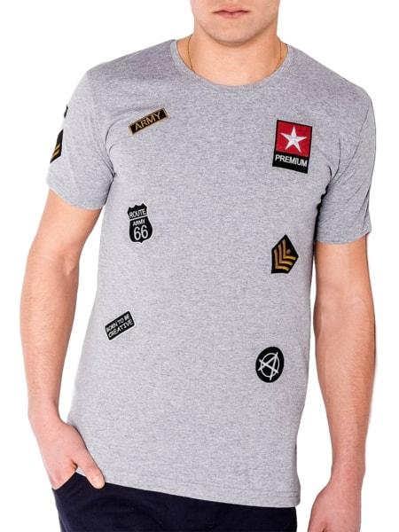 Bavlnené pánske tričko šedé s818