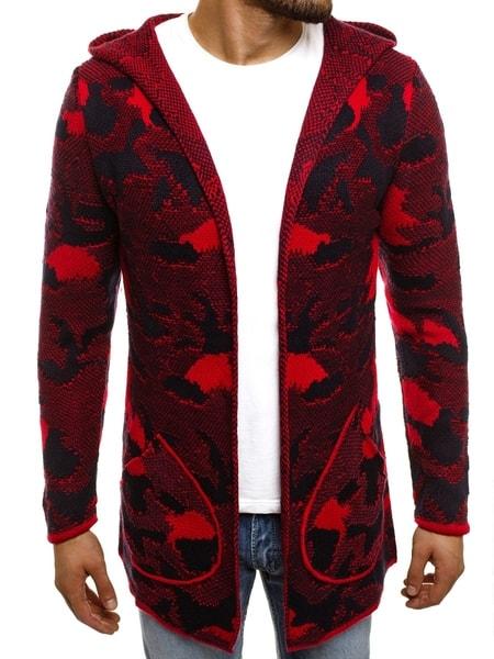 Cool červený kardigan MADMEXT 2179S
