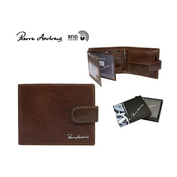 Kožená hnedá peňaženka s prackou