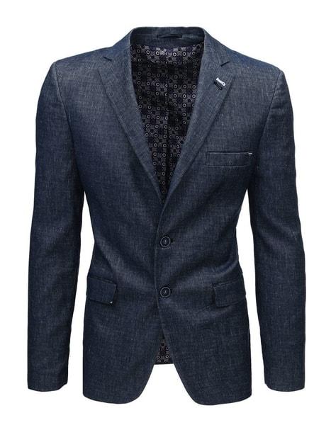 Atraktívne ľanové granátové sako