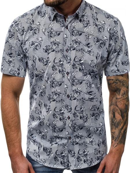 Zaujímavá vzorovaná pánska košeľa V/K110