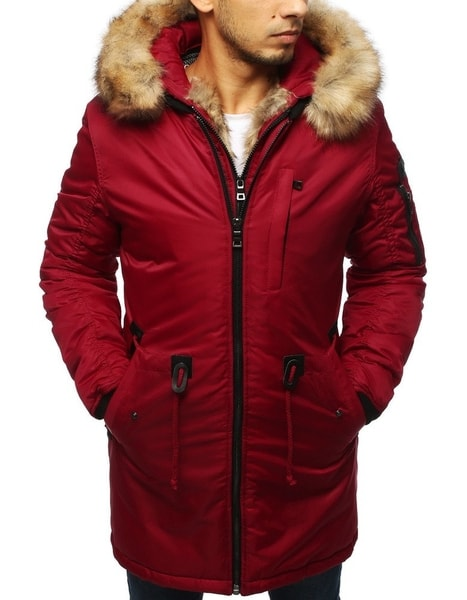 Štýlová červená zimná bunda