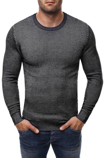 Čierny pánsky sveter so vzorom BRUNO LEONI 260