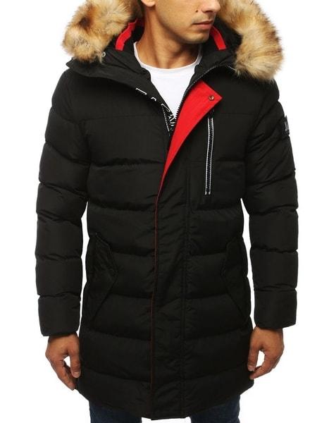 Zimná čierna zaujímavá bunda