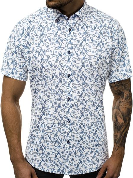 Trendy vzorovaná pánska košeľa V/K130
