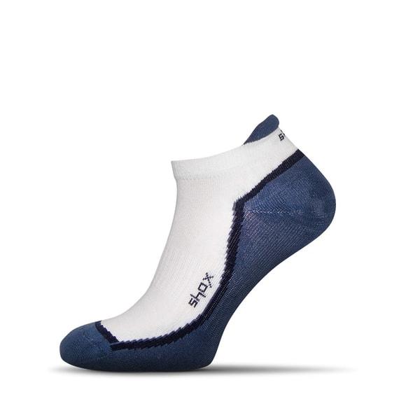 Bielo - modré pánske ponožky